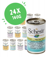 Lot mixte Schesir 24 x 140 g pour chat