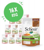 Lot mixte Schesir Bio 16 x 85g pour chat
